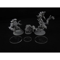 "ZOMBICIDE : ""BLACK PLAGUE"" - Socles pour l'extension ""Zombie Bosses - Abomination Pack""ABOMINATION"""