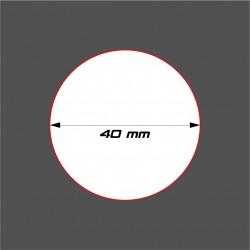 SOCLE CIRCULAIRE 40mm ACRYLIQUE
