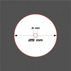STUFF4GAMES-SOCLE CIRCULAIRE 25mm + Réservation ACRYLIQUE