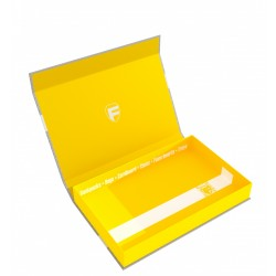 STUFF4GAMES-Feldherr Magnetic Box half-size 40 mm yellow empty