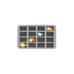 STUFF4GAMES-HS050KR07 50 mm (2 inch) half-size Figure Foam Tray for 16 Krosmaster figures
