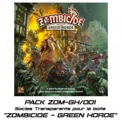 """STUFF4GAMES -ZOMBICIDE : """"GREEN HORDE"""" - Socles pour la boite de base"""