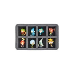 STUFF4GAMES-HS050KR01 50 mm (2 inch) half-size Figure Foam Tray for 8 large Krosmaster figures