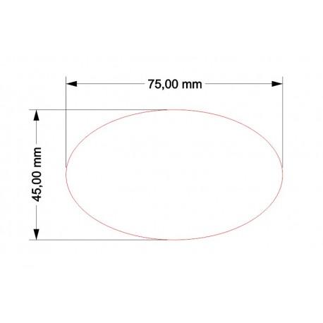 STUFF4GAMES-SOCLE OVALE 75x45mm ACRYLIQUE