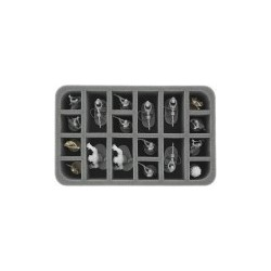 STUFF4GAMES-HS060IA05 60 mm (2.4 inches) half-size foam tray with 18 slots for Star Wars Imperial Assault Miniatures