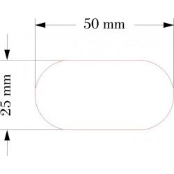 SOCLE OVALE 25x50mm ACRYLIQUE