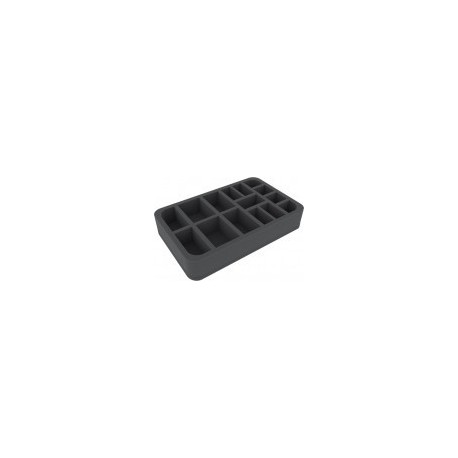 STUFF4GAMES-HSCV050BO 50 mm (2 inches) 15 slots - half-size foam tray