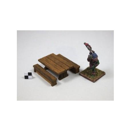 STUFF4GAMES-Table miniature avec ses 2 bancs