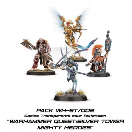 WARHAMMER QUEST : SILVER TOWER - Socles pour la boite de base