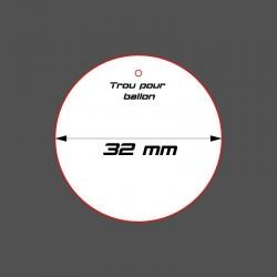 STUFF4GAMES-SOCLE CIRCULAIRE 32mm + Réservation BB ACRYLIQUE
