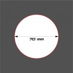 SOCLE CIRCULAIRE 70mm ACRYLIQUE