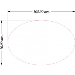 SOCLE OVALE 105x70mm ACRYLIQUE