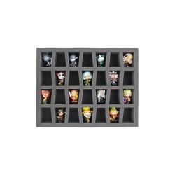 STUFF4GAMES-FS050KR04 50 mm (2 inch) full-size Figure Foam Tray for 28 Krosmaster figures