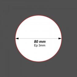 SOCLE CIRCULAIRE 80mm ACRYLIQUE Ep3mm