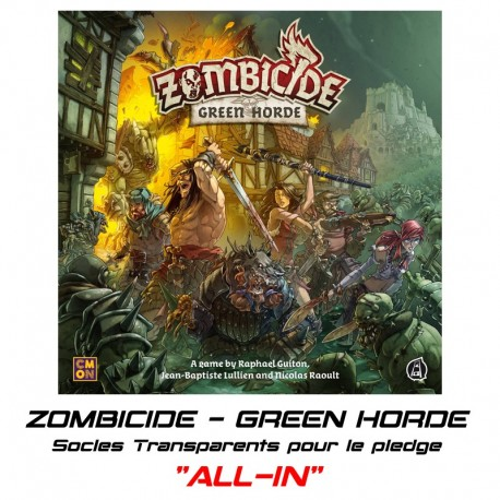 """ZOMBICIDE : """"GREEN HORDE"""" - Socles pour le pledge """"ALL-IN"""""""