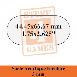 SOCLE OBLONGUE 44.45x66.67mm ACRYLIQUE 3mm