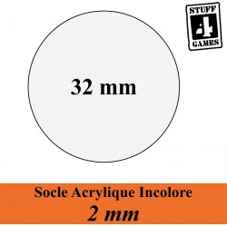 STUUF4GAMESSOCLE CIRCULAIRE 32mm ACRYLIQUE INCOLORE 2mm