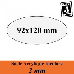 SOCLE OVALE 92x120mm ACRYLIQUE INCOLORE 2mm
