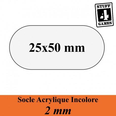STUFF4GAMESSOCLE OBLONGUE 25x50mm ACRYLIQUE INCOLORE 2mm