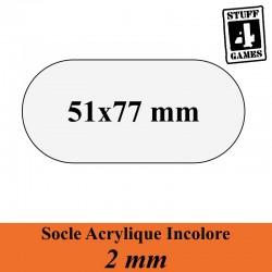 STUFF4GAMESSOCLE OBLONGUE 51x77mm ACRYLIQUE INCOLORE 2mm