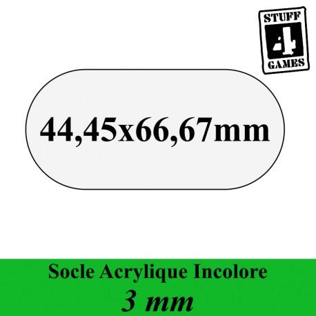 SOCLE OBLONGUE 44,45x66,67mm ACRYLIQUE INCOLORE 3mm