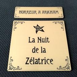 HORREUR A ARKHAM JCE - ETIQUETTES ZELATRICE
