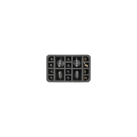 STUFF4GAMES-HS060IA04 60 mm (2.4 inches) half-size foam tray with 16 slots for Star Wars Imperial Assault Miniatures