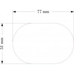 SOCLE OVALE 51x77mm ACRYLIQUE